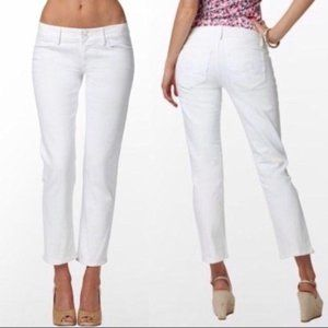 Lilly Pulitzer Worth Straight Crop Jeans 4 White
